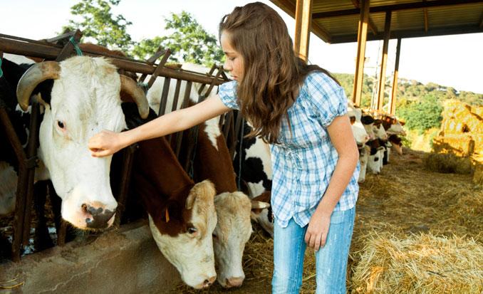 Kinder lernen wie artgerechte Tierhaltung aussieht