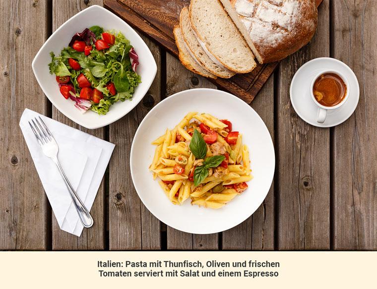 Mittagessen Italien