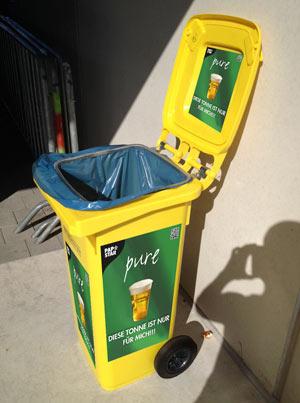 Mülltonne für kompostierbare Einwegbecher