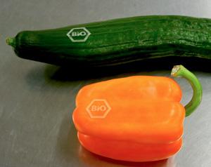 Natürliches Labeling für Bio-Gemüse.