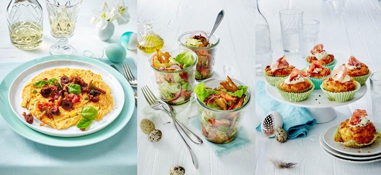 Fehlen Ihnen für Ostern noch originelle Rezepte? Wie wär?s, Sie würden anstelle eines Brunchs ein ?Brinner? veranstalten, also eine Mischung aus Frühstück und Abendessen.