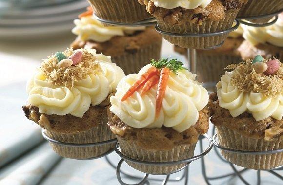 Ein süßes Rezept zu Ostern: Leckere Oster-Cupcakes mit Karotte & Walnuss
