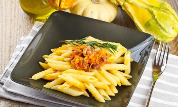 Kürbis-Pasta: Linguine und die tolle Kugel gehen Liason ein