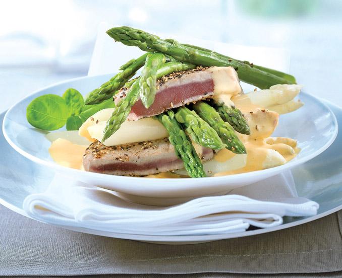 Thunfisch mit Spargel