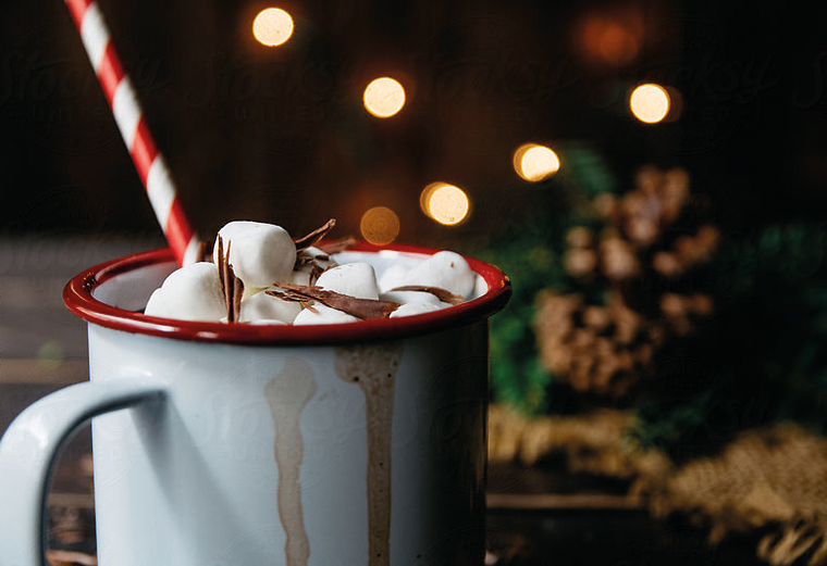 Süßes Geschenk für kalte Tage, köstlicher Bio-Kakao
