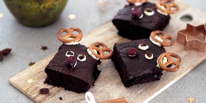 Lecker & einfach: Vegane und zuckerfreie Rentier-Brownies