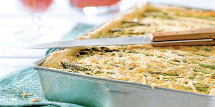 Osterbrunch-Rezept: Quiche mit grünem Spargel