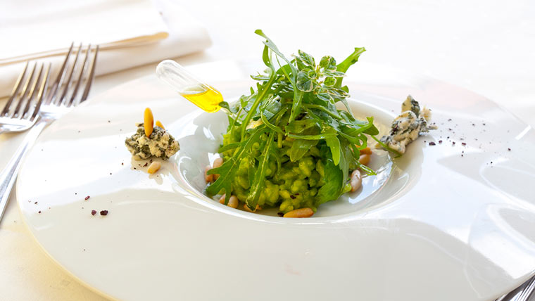 Rucola Salat mit Öl-Dressing