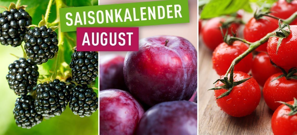 Saisonales Obst und Gemüse im August