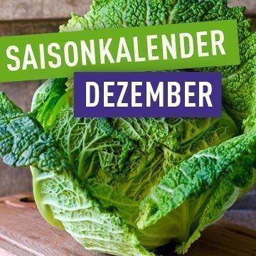 Saisonales Obst und Gemüse im Dezember