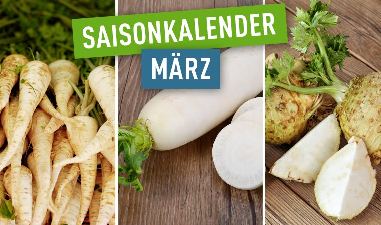 Regional und saisonal kochen im März