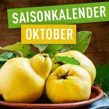 Saisonales Obst und Gemüse im Oktober