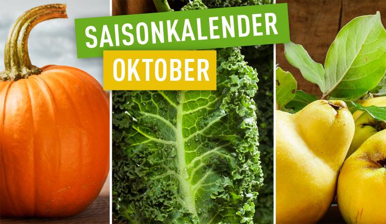 Regionales und saisonales Obst und Gemüse im Oktober