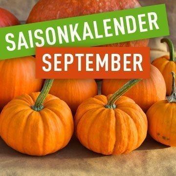 Saisonales Obst und Gemüse im September
