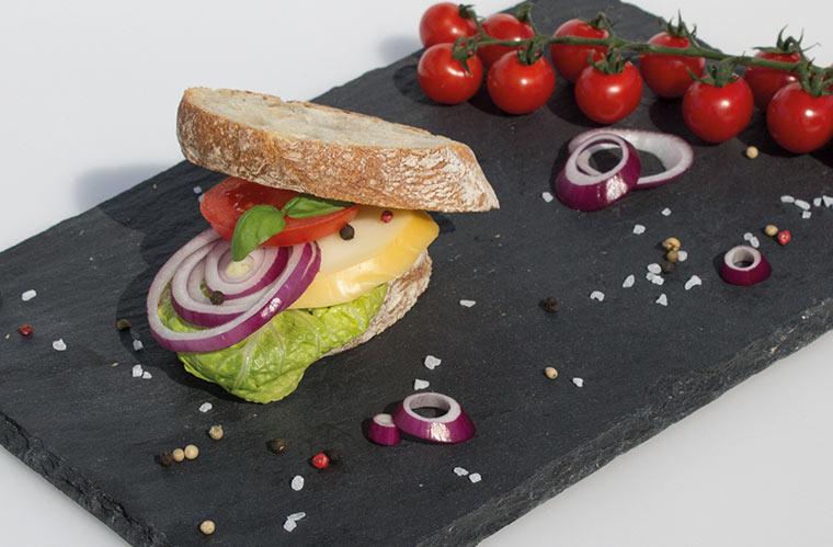 Scamorza-Burger vom Grill