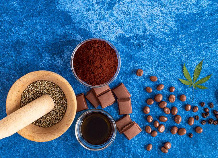 Schokolade mit Hanfsamen