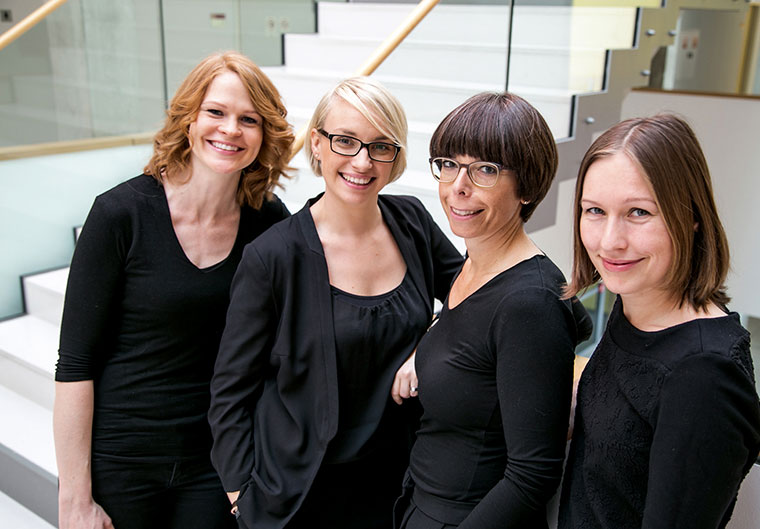 Die Autorinnen Daniela Grach, Caroline Schlinter, Marlies Wallner und Nicole Zöhrer über Superfoods.