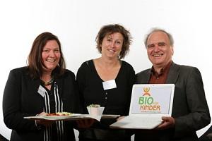 Der Bio-Speiseplanmanager wird vorgestellt. © Bernd Wackerbauer/Bio für Kinder