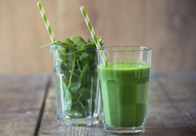2. Frischer Spinat ganz frisch geerntet