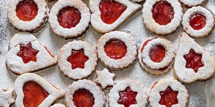Leckeres Spitzbuben Rezept, jetzt Kekse backen und genießen