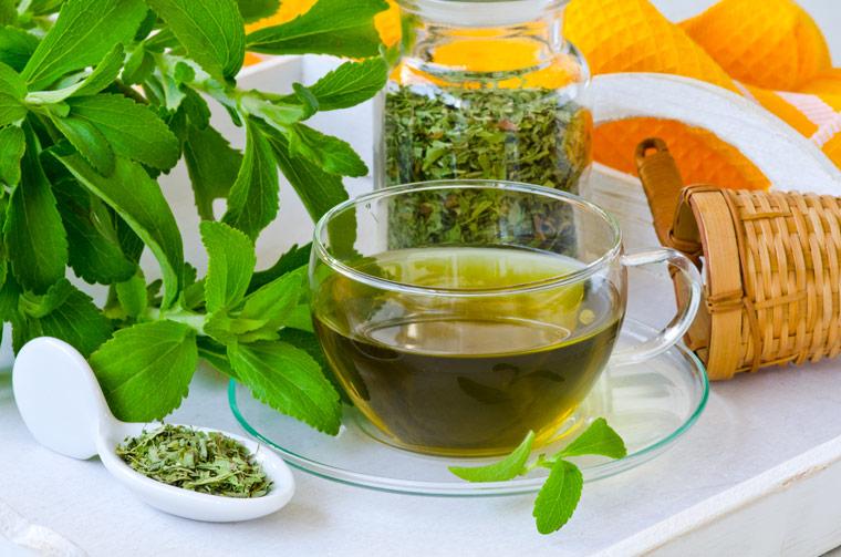 Stevia im Tee