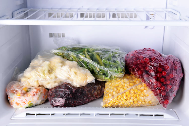 Wie lange halten sich Lebensmittel im Gefrierfach?