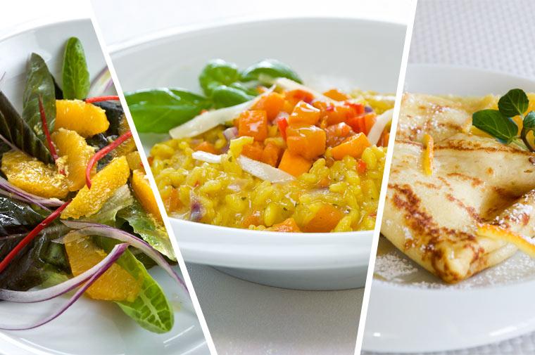 Vegetarisches 3-Gänge-Menü