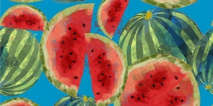 Melonenschalen schmecken besonders lecker und regen den Kreislauf an.