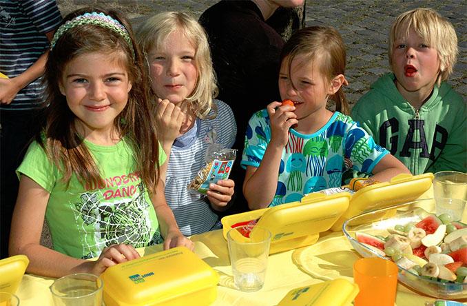 Ein gesundes, biologisches Frühstück. Den Kindern schmeckt's © Bio Brotbox gGmbH