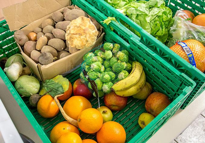 Gerettetes Gemüse zur Weiterverarbeitung