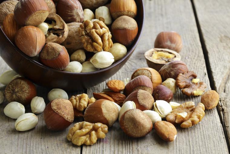 Nüsse sind gut fürs Herz und haben gesunde Fette