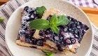 Leckerer Blechkuchen für den Sommer: Heidelbeer-Crème fraîche-Schnitten