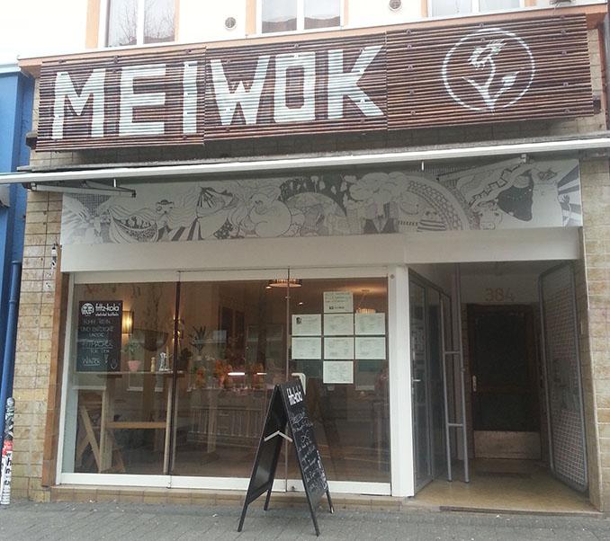 Unverkennbar ist der MeiWok Imbiss von außen © MeiWok, Köln