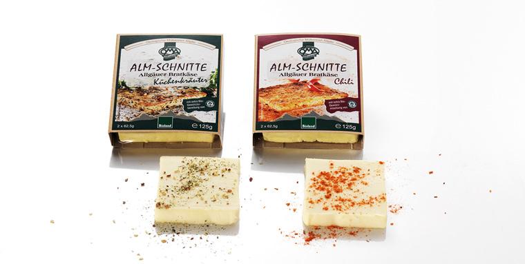 Leckerer Käse in Bioqualität