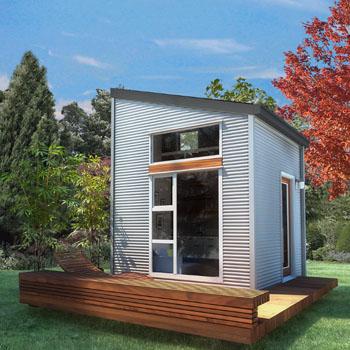 Unscheinbar klein wirkt das Micro Home von außen ©NOMAD