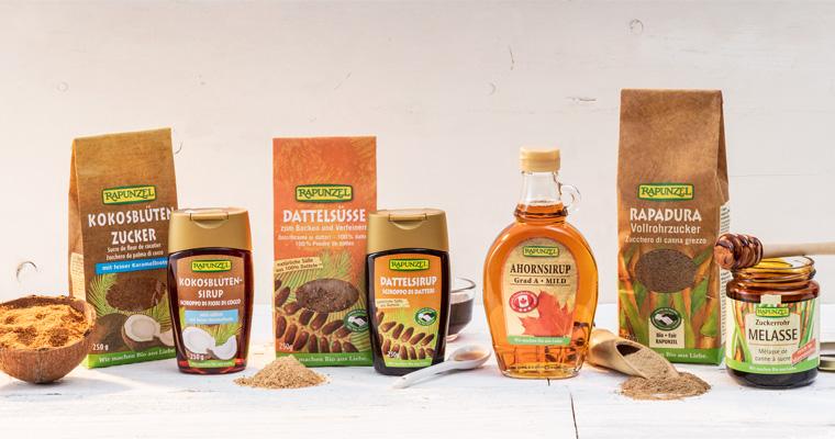 Natürlich süßen mit Kokosblüte, Dattel, Ahornsirup, Rapadura Vollrohrzucker und Zuckerrohr Melasse.