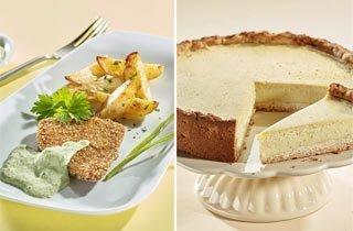 Rezepte für Seitanschnitzel und veganer Käsekuchen