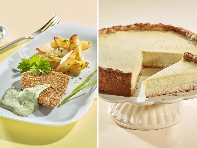 vegane rezepte f r seitanschnitzel und veganer k sekuchen. Black Bedroom Furniture Sets. Home Design Ideas