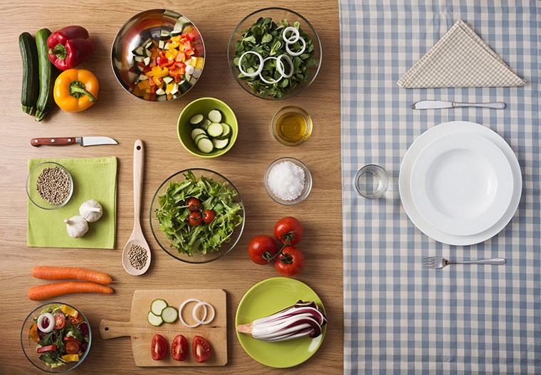 Vegan und glutenfrei außerhalb essen.