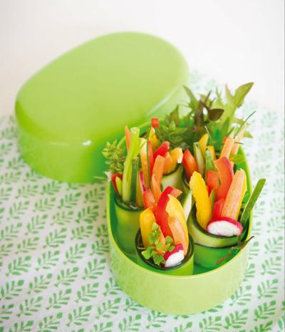 Ein leckeres Rezept für veganes Lunchbox-Sushi