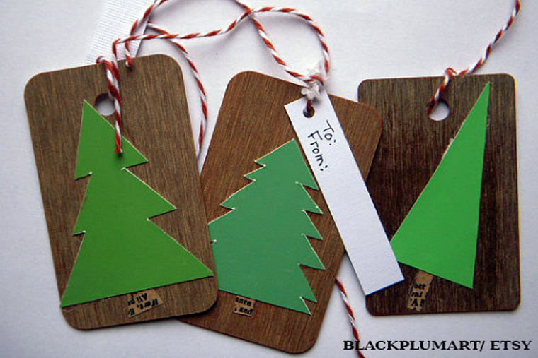 Umweltschonende Geschenkanhänger