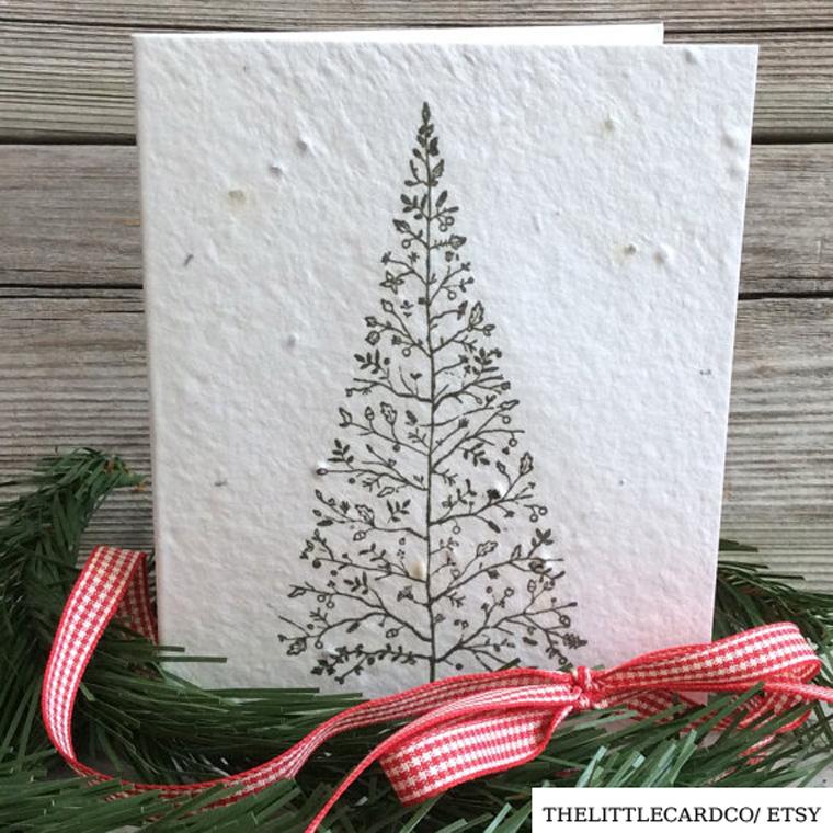 Pflanzbare Weihnachtskarten