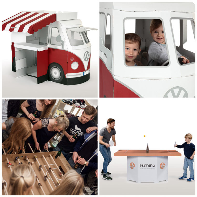 Geschenkidee VW-Bus aus Pappe