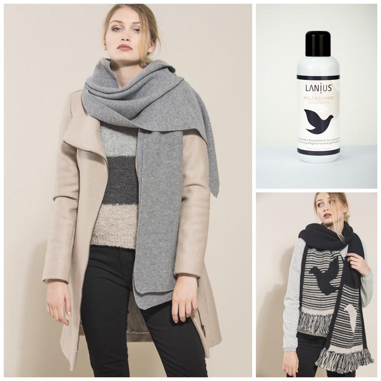 Weihnachtsgeschenk für Frauen - Schal aus Merinowolle