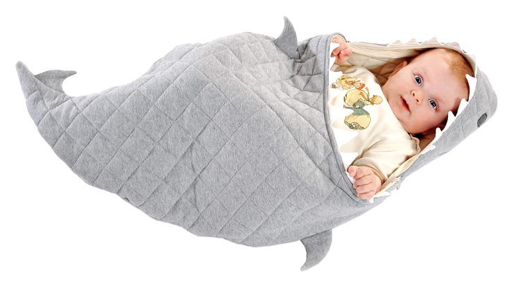 Geschenkidee: Hai-Decke für Babys
