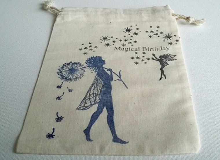 Handgemachte Geschenkbeutel aus Baumwolle