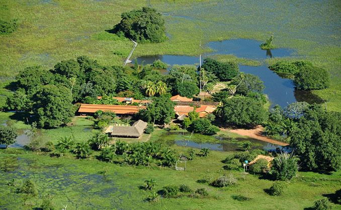 Das Reservoir von oben © Araras Pantanal Eco Lodge