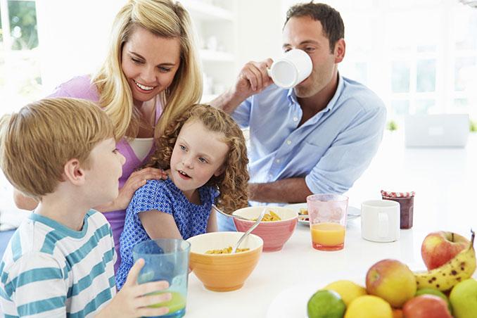Vor der Urlaubsfahrt sollte man gesund und solide frühstücken