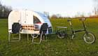 Camping light: Fahrrad-Caravan für Naturliebhaber