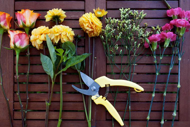 Blumenstrauß selbst binden